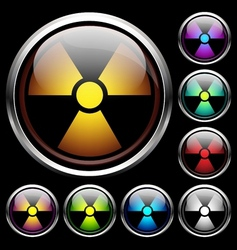 Set icons of radiation vector