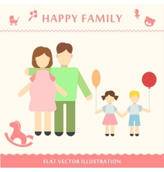 Father and pregnant women vector
