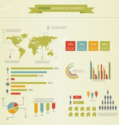 Eco infograpich vector