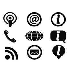 Information icons set vector