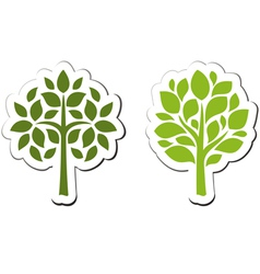 Tree emblem 2 isolated on white vector