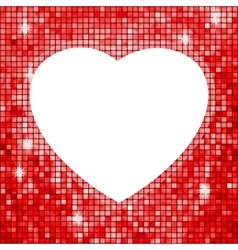 Heart shaped frame vector