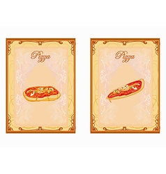 Pizza menu card set vector