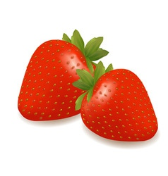 Group of strawberry vector