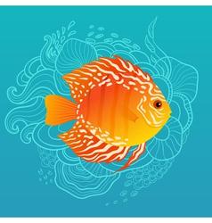 Sunny fish vector