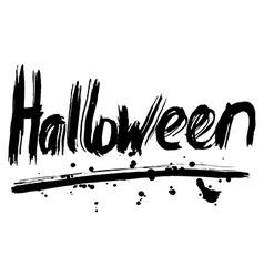 Halloween hand lettering handmade calligraphy vector