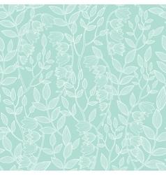 Mint green floral texture seamless pattern vector