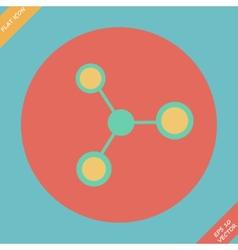 Molecule icon - vector