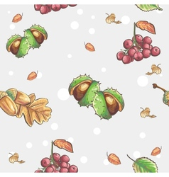 Seamless autumnal pattern with the image of vector