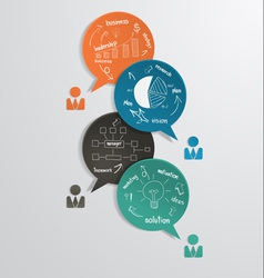 Business bubble speech with drawing diagram vector