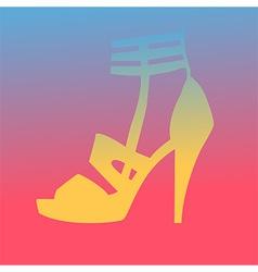 Woman heel shoe silhouette vector