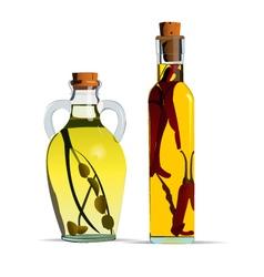 Cooking oils vector