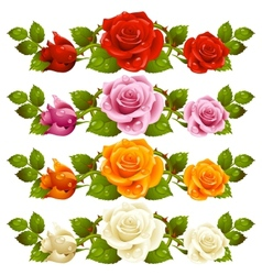 Rose horizontal vignette vector