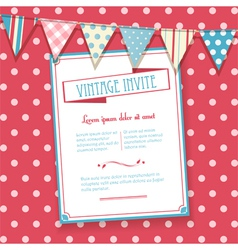 Invite and bunting background vector