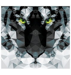 Geometric polygon white tiger head triangle vector