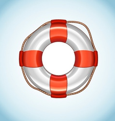 White life buoy icon vector