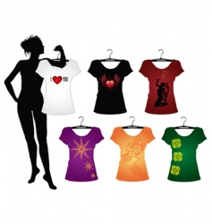 Woman's t-shirts vector