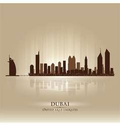 Dubai united arab emirates skyline city silhouette vector