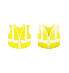 Protective fluorescent yellow vest vector