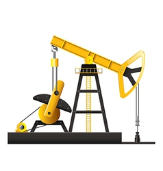 Oil pump isolated vector