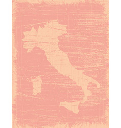 Italy aged map vector