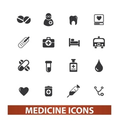Medicine  health icons set vector