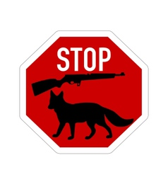 Stop shoot fox vector