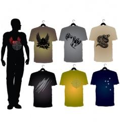 Men's t-shirts vector