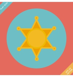 Sheriff star icon - vector