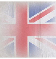Old vintage paper texture with british union jack vector