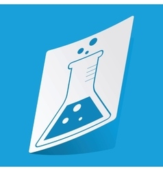 Conical flask sticker vector