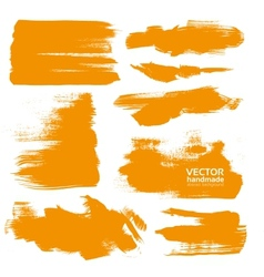 Hand-drawing orange textures vector