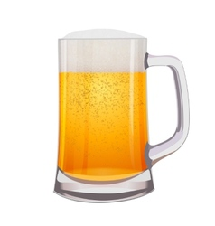 Excellent isolated mug of beer vector