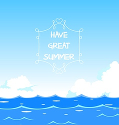 Have great summer vector