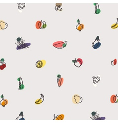 Pattern of vegetables vector