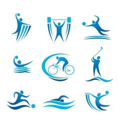 Sport symbols and pictograms vector