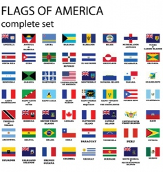 American continent flags vector