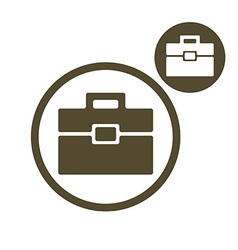 Briefcase simple single color icon isolated on vector