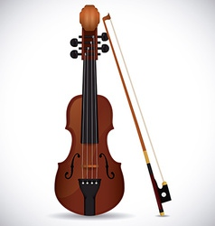 Violin design vector