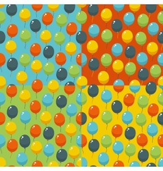 Colored party baloons pattern birthday wedding vector