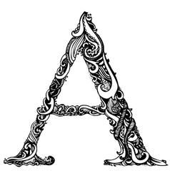 A letter capital black vector