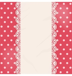Lace centre panel border background vector