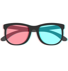 3d glasses with chromatic aberration vector