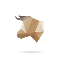 Cow head abstract isolated vector