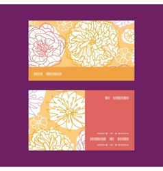 Warm day flowers horizontal stripe frame pattern vector