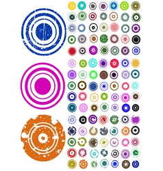 105 circle graphic elements vector