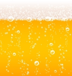 Beer texture with bubbles and foam vector