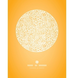 Golden lace roses circle vignette seamless pattern vector