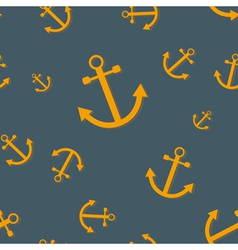 Seamless nautical pattern with anchors vector