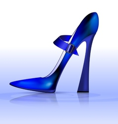 Blue funny shoe vector